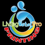 Logo de Living Water Pro. Printing in los angels Imprenta