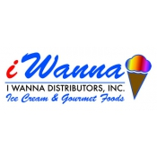 Logo de I WANNA DISTRIBUTORS INC. Ice Cream  Gourmet Foods